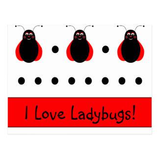Cute Smiling Ladybug Postcard