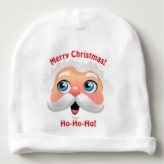 Cute Smiling Santa Claus Cartoon Baby Beanie