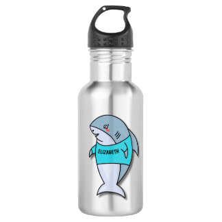 Cute Smiling Shark In Cool Shirt Funny 532 Ml Water Bottle