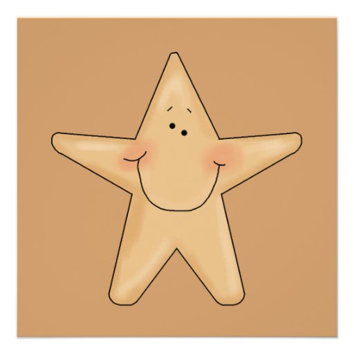 Cute Smiling Star Fish Cartoon Character Design Personalized Invitations