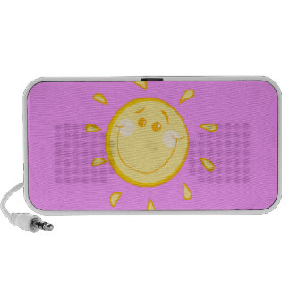 Cute Smiling Sun Mp3 Speakers