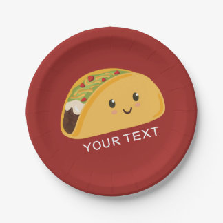 Cute Smiling Taco Party Plate