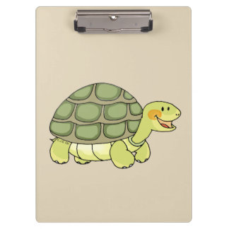 cute smiling tortoise/turtle clipboard