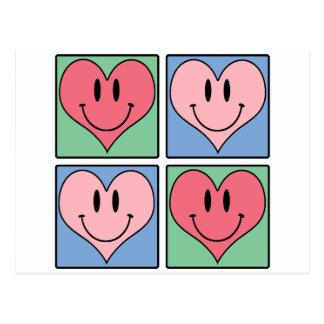 Cute Smiling Valentine's Hearts, I Love You Postcard