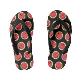 Cute smiling watermelon kid's thongs