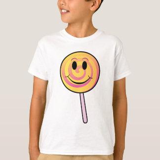 Cute Smiling Yellow Cartoon Lollipop T-Shirt