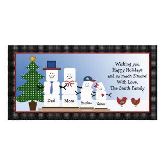 Cute S'mores Family Christmas Holiday Card Custom Photo Card