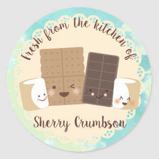 Cute smores marshmallows from the kitchen of label