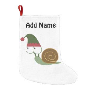 Cute Snail Christmas Elf Small Christmas Stocking