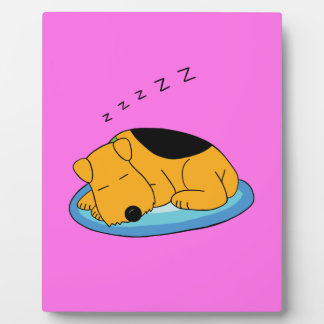 Cute Snoring Airedale Terrier Dog Display Plaque