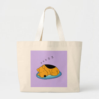 Cute Snoring Airedale Terrier Dog Jumbo Tote Bag