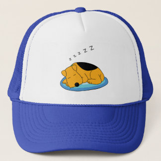 Cute Snoring Airedale Terrier Dog Trucker Hat