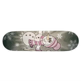 Cute Snow Lady 18.1 Cm Old School Skateboard Deck