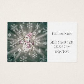 Cute Snow Lady Business Card