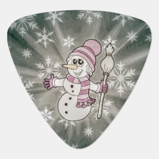 Cute Snow Lady Guitar Pick