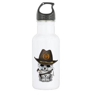 Cute Snow Leopard Cub Zombie Hunter 532 Ml Water Bottle