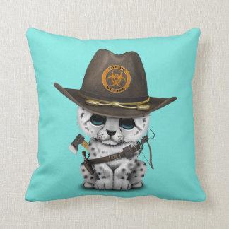 Cute Snow Leopard Cub Zombie Hunter Cushion
