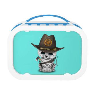 Cute Snow Leopard Cub Zombie Hunter Lunch Box