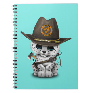 Cute Snow Leopard Cub Zombie Hunter Notebooks