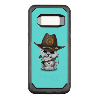 Cute Snow Leopard Cub Zombie Hunter OtterBox Commuter Samsung Galaxy S8 Case