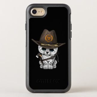 Cute Snow Leopard Cub Zombie Hunter OtterBox Symmetry iPhone 8/7 Case