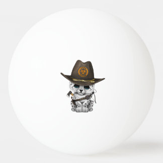 Cute Snow Leopard Cub Zombie Hunter Ping Pong Ball