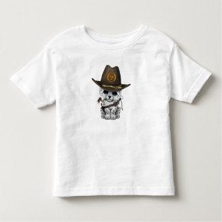 Cute Snow Leopard Cub Zombie Hunter Toddler T-Shirt