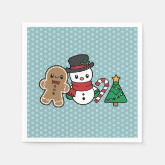 Cute Snow Pals paper napkins Disposable Napkin