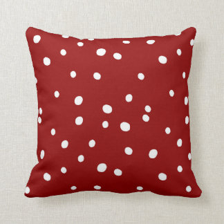Cute Snowing Snow Red Christmas Pattern Cushion