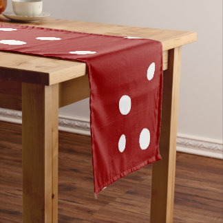 Cute Snowing Snow Red Christmas Pattern Short Table Runner