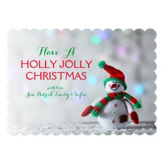Cute Snowman 13 Cm X 18 Cm Invitation Card