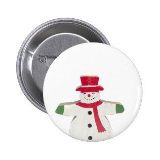 cute snowman Christmas gift Pinback Buttons