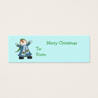 Cute Snowman Christmas Gift Tags
