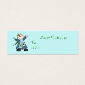 Cute Snowman Christmas Gift Tags Mini Business Card