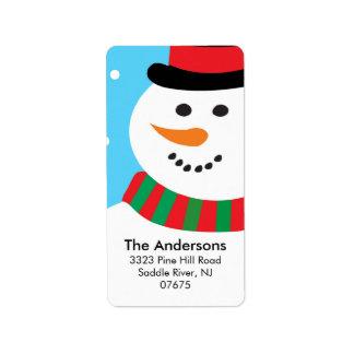Cute Snowman Christmas Holiday Return Address Address Label