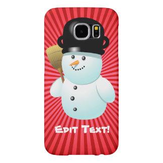 Cute Snowman Custom Cartoon Samsung Galaxy S6 Cases