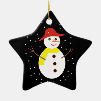 Cute snowman custom Christmas ornament