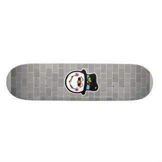cute snowman face 18.1 cm old school skateboard deck