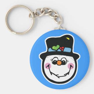 cute snowman face keychains