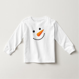Cute Snowman Face On White Toddler T-Shirt