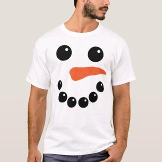 Cute Snowman Face T-Shirt
