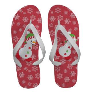 Cute Snowman Flip Flop Flip Flops