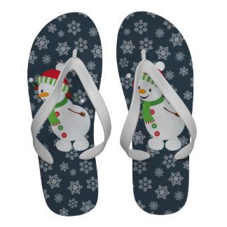 Cute Snowman Flip Flop Flip-Flops
