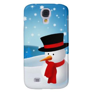 Cute Snowman Galaxy S4 Cases