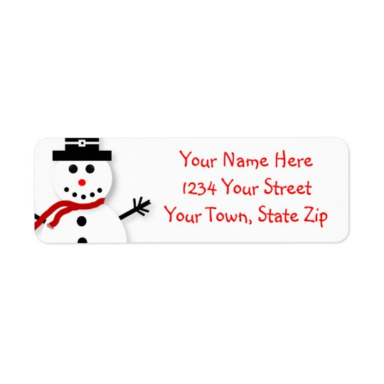 Cute Snowman Graphic Address Labels