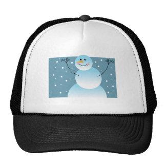 Cute Snowman Trucker Hats