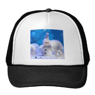 Cute Snowman Mesh Hats