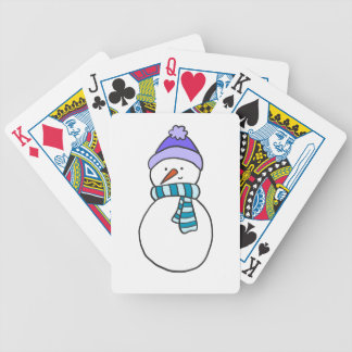 CUTE SNOWMAN / HOLIDAY BICYCLE PLAYING CARDS