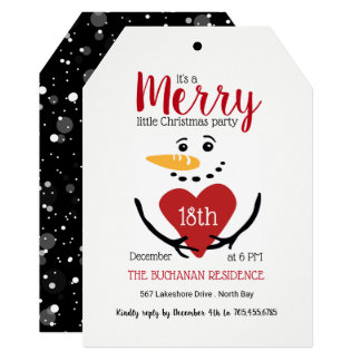 Cute Snowman Holiday Party Invitation