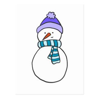 CUTE SNOWMAN / HOLIDAY POSTCARD